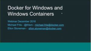 Embedded thumbnail for Docker for Windows and Windows Containers