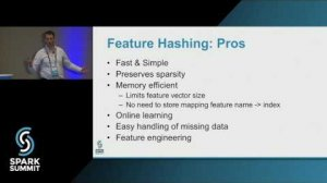 Embedded thumbnail for Feature Hashing for Scalable Machine Learning: Spark Summit East talk by: Nick Pentreath