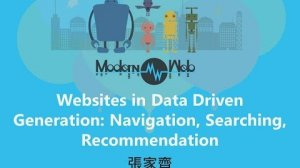 Embedded thumbnail for 【Modern Web 2015】Websites in Data Driven Generation: Navigation, Searching, Recommendation