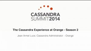 Embedded thumbnail for Orange: The Cassandra Experience at Orange — Season 2