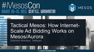 Embedded thumbnail for Tactical Mesos: How Internet-Scale Ad Bidding Works on Mesos / Aurora