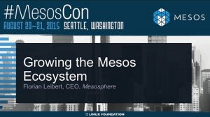 Embedded thumbnail for Keynote: Growing the Mesos Ecosystem