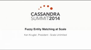 Embedded thumbnail for Scale Unlimited: Fuzzy Entity Matching at Scale