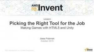 Embedded thumbnail for AWS re:Invent 2015 | (GAM405) Right Tool For The Job: Making Games w/HTML5 & Unity