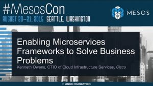 Embedded thumbnail for Keynote: Enabling Microservices Frameworks to Solve Business Problems