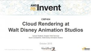 Embedded thumbnail for AWS re:Invent 2015 | (CMP404) Cloud Rendering at Walt Disney Animation Studios