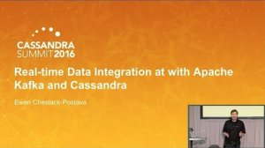 Embedded thumbnail for Real-time Data Integration w Kafka & Cassandra (Ewen Cheslack-Postava, Confluent) | C* Summit 2016