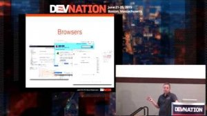 Embedded thumbnail for DevNation 2015 - Modern Javascript for Java developers