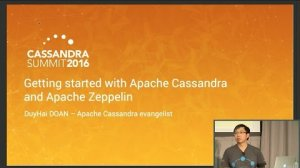 Embedded thumbnail for Getting Started with Apache Cassandra and Apache Zeppelin (DuyHai DOAN, DataStax) | C* Summit 2016