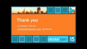 Embedded thumbnail for DockerCon SF 2015: Day 1 Lightning Talks