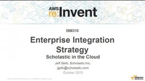 Embedded thumbnail for AWS re:Invent 2015 | (ISM310) Scholastic's Approach to Integration as a Service