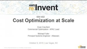 Embedded thumbnail for AWS re:Invent 2015 | (ISM402) Cost Optimization at Scale