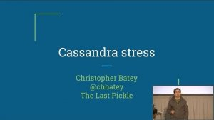 Embedded thumbnail for The Best and Worst of Cassandra-stress Tool (Christopher Batey, The Last Pickle) | C* Summit 2016