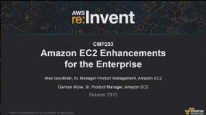 Embedded thumbnail for AWS re:Invent 2015 | (CMP203) NEW LAUNCH! Amazon EC2 Enhancements for the Enterprise