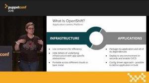 Embedded thumbnail for Using Puppet With Kubernetes and OpenShift – Diane Mueller & Daniel Dreier at PuppetConf 2016