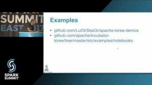 Embedded thumbnail for Apache Toree: A Jupyter Kernel for Spark: Spark Summit East talk by Marius van Niekerk
