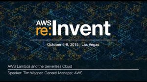 Embedded thumbnail for AWS re:Invent 2015 | (CMP301) AWS Lambda and the Serverless Cloud