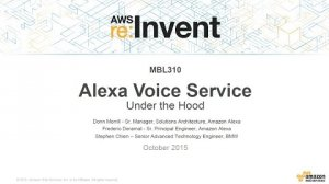 Embedded thumbnail for AWS re:Invent 2015 | (MBL310) Alexa Voice Service Under the Hood