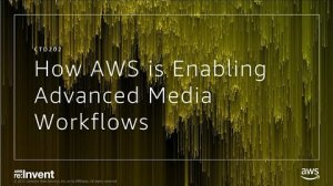 Embedded thumbnail for AWS re:Invent 2017: Learn How AWS is Enabling the World's Most Advanced Media Workfl (CTD202)