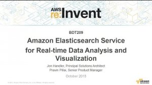 Embedded thumbnail for AWS re:Invent 2015   (BDT209) New! Amazon Elasticsearch Service for Real-time Analytics and Visualization