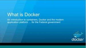 Embedded thumbnail for Docker 101 for Federal Agency IT