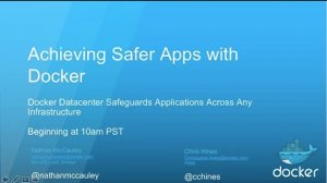 Embedded thumbnail for Achieving Safer Apps with Docker