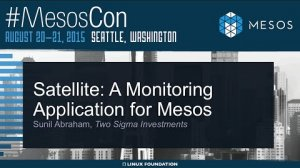 Embedded thumbnail for Satellite: A Monitoring Application for Mesos