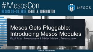 Embedded thumbnail for Mesos Gets Pluggable: Introducing Mesos Modules