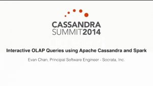 Embedded thumbnail for Interactive OLAP Queries using Apache Cassandra and Spark