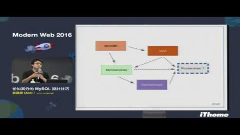 Embedded thumbnail for Modern Web 2016 - 恰如其分的 MySQL 設計技巧