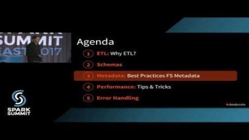 Embedded thumbnail for Keeping Spark on Track: Productionizing Spark for ETL: talk by Kyle Pistor and Miklos Christine