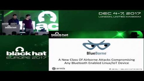 Embedded thumbnail for BlueBorne - A New Class of Airborne Attacks that can Remotely Compromise Any Linux/IoT Device