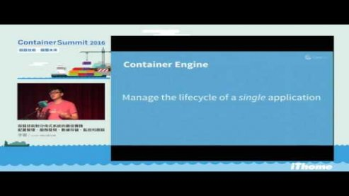 Embedded thumbnail for Container Summit 2016 - 容器技術對分佈式系統的最佳化實踐:配置管理、服務發現、數據存儲、監控和跟蹤